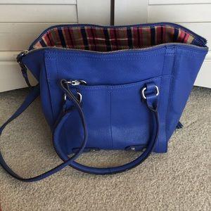 Tiganello Cobalt Blue Leather Crossbody